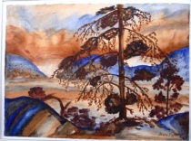 Tom Thomson water colour